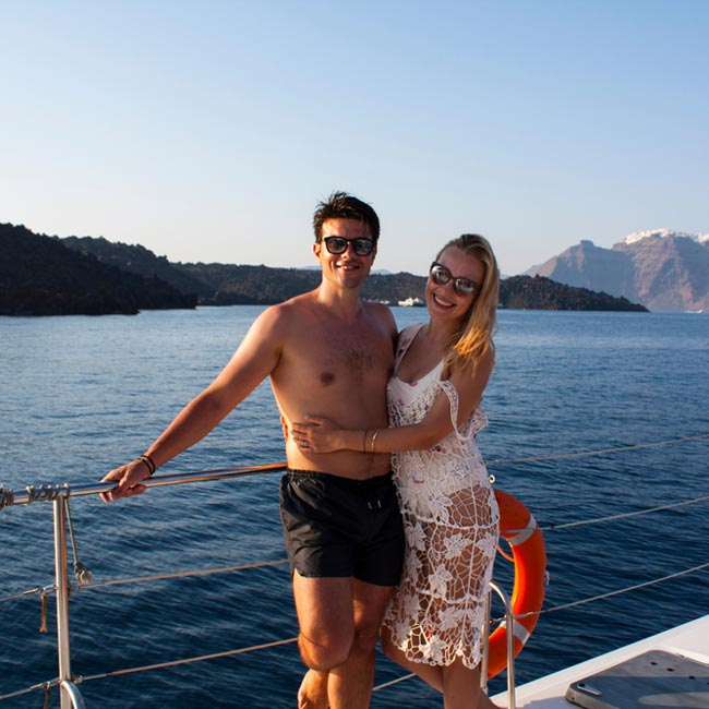 Josh & Patricia on Private Yacht in Mykonos - Travelive Reviews