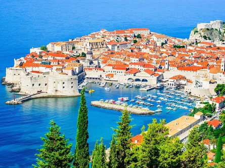 Dubrovnik panoramic view of old port and the walls – Travelive Luxury Travel packages