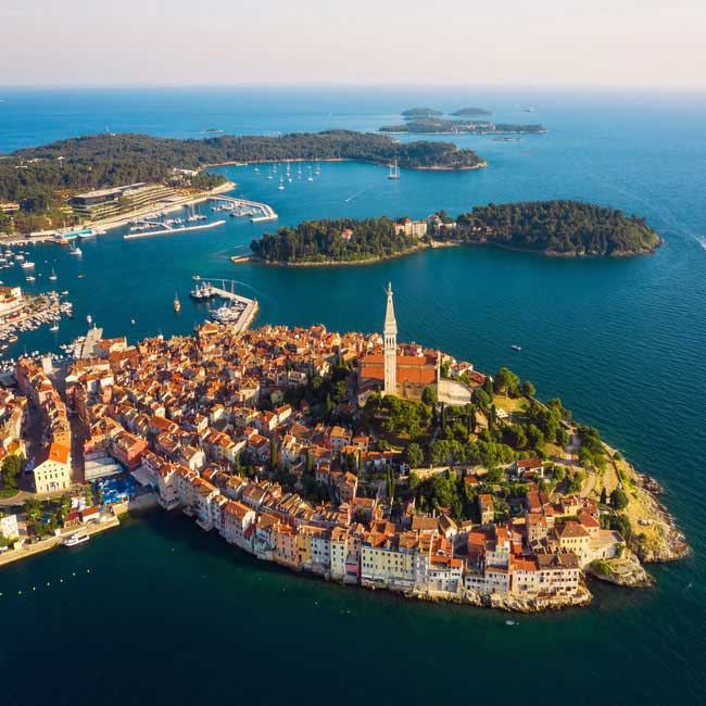 Areal View of Rovinj – Luxury Vacations in Croatia and Istria, Travelive