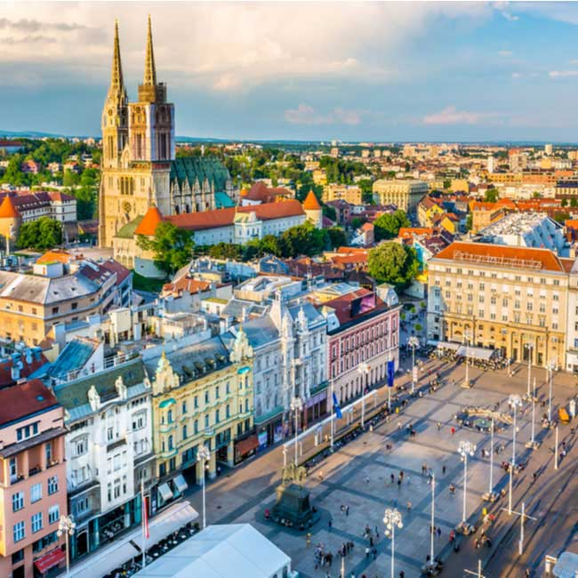 Ban Jelacic Square in Zagreb – Croatian Luxury Vacation Packages by Travelive
