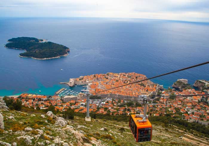 Panoramic View of Dubrovnik from Srdj – Luxury Croatian Vacations, Travelive