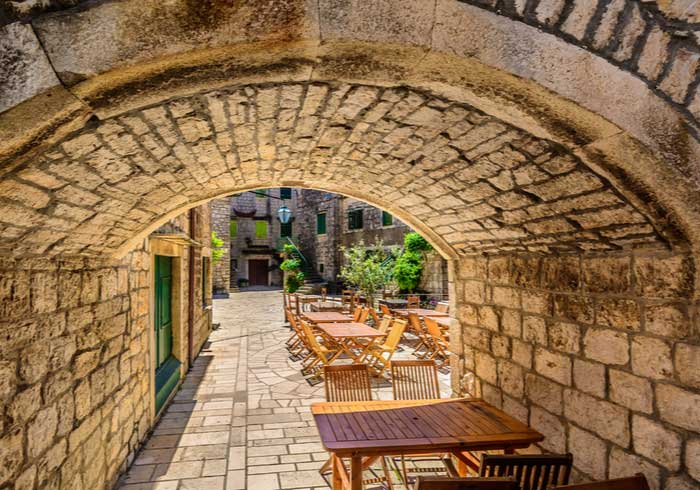 Traditional Konoba Courtyard on Island Hvar – Luxury Croatian Vacations, Travelive
