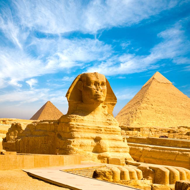 Great Sphinx and Pyramids of Giza – Cairo, Top destinations in Egypt, Travelive packages