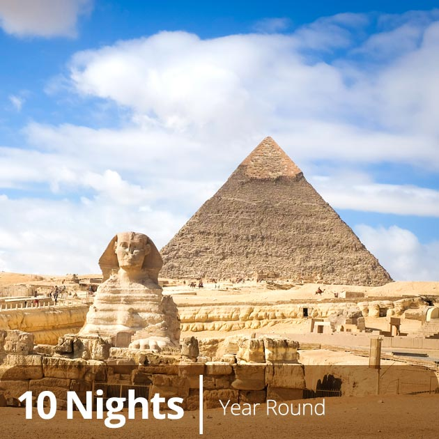Pyramids in Cairo, Egypt - Vacation Bundles with Travelive, Egyptian Elegance Luxury Travel Packages