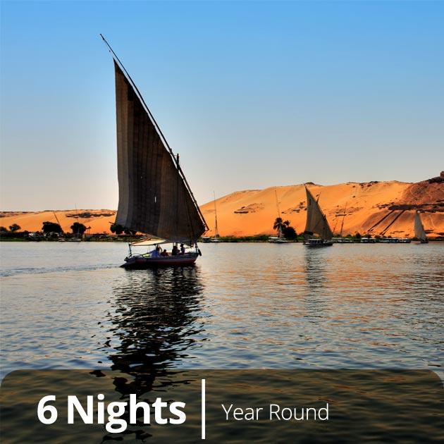 Felucas in Answan - Nile Luxury Honeymoon Packages, Travelive