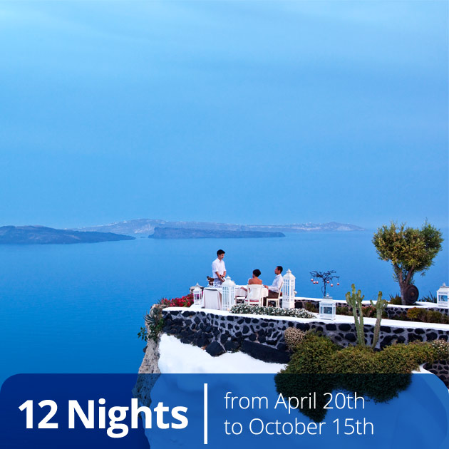 Couple Having a Romantic Dinner in Santorini - Best Honeymoon Destinations in Greece