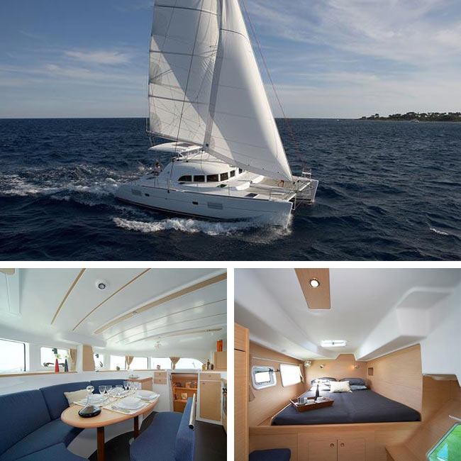"Catamaran S/Y ""Caldera II""- Luxury Yachts Greece, Travelive"