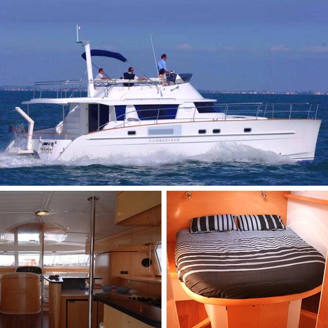 Cumberland 46 Power Catamaran - Luxury Yachts Greece, Travelive