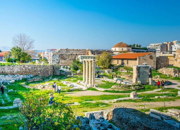 Hadrian Library – Athens honeymoon tours with Travelive, Aegean Elegance package