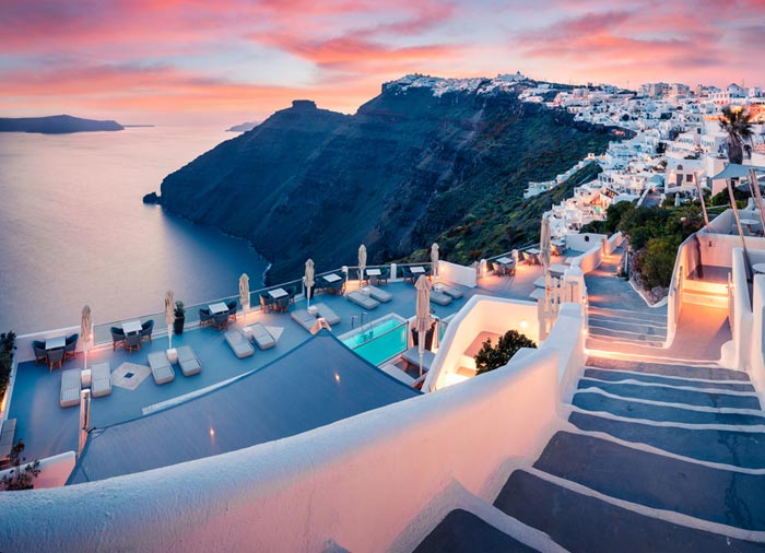 Evening View – Santorini island, Athens and Santorini luxury travel with Travelive