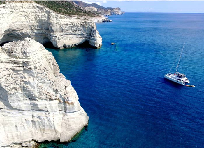 Catamaran - Milos Travel, Milos Island Cycladic Treasures with Travelive