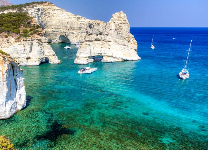 Kleftiko in Milos – Milos vacation packages, Cycladic Treasures, Travelive