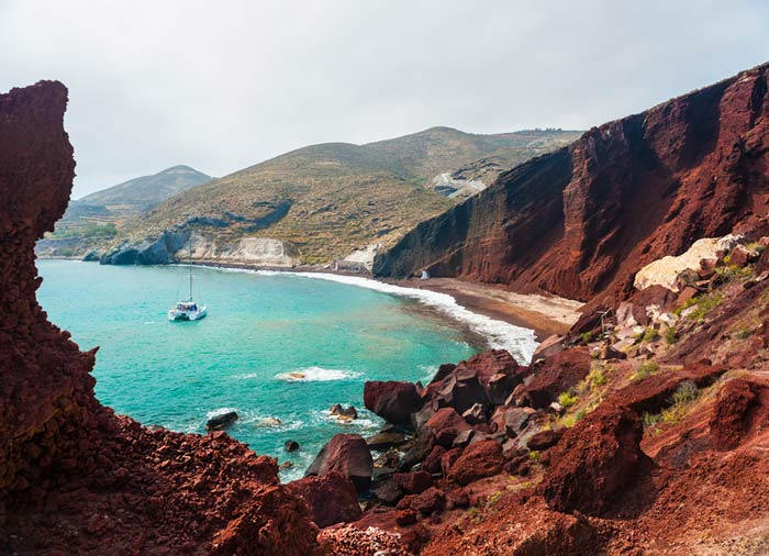 Red Beach in Santorini, Cyclades Tour, Cycladic Treasures package by Travelive