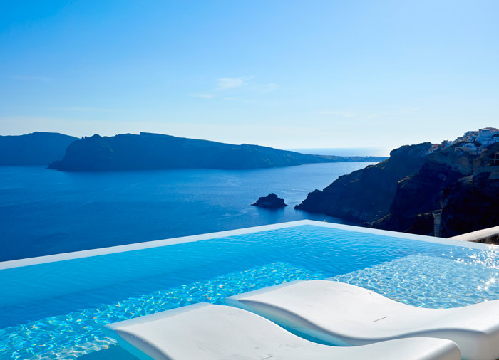 Pool – Santorini Island, Greek Dream Private Yacht, Sailing holidays Greece, Travelive