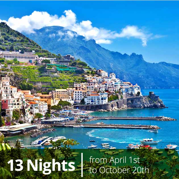 Amalfi Coast – Italian Classics and Amalfi Coast Luxury Vacation Packages, Travelive