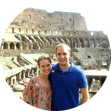 Amanda & Brian at Colosseum in Rome - Luxury Vacations with Travelive