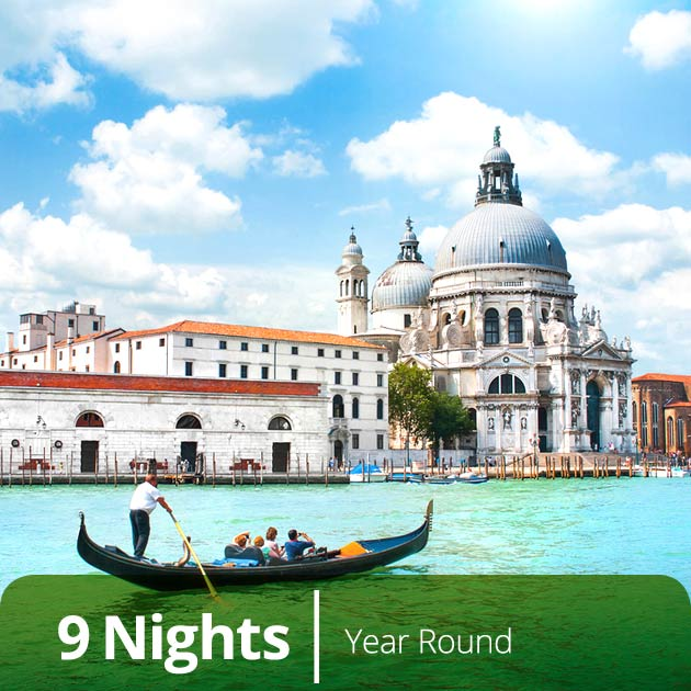 Gondola in Venice - Italian Classics, Luxury Vacation Packages with Travelive