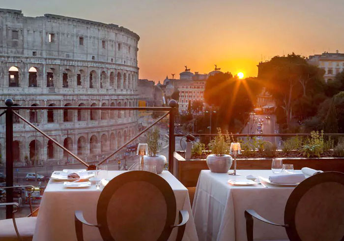 View of Coliseum – Palazzo Manfredi, Rome honeymoon packages, Travelive' s romantic Tuscany