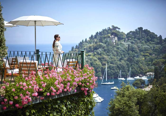 Woman at Belmond Hotel – Splendido, Italian Riviera honeymoon package with Travelive