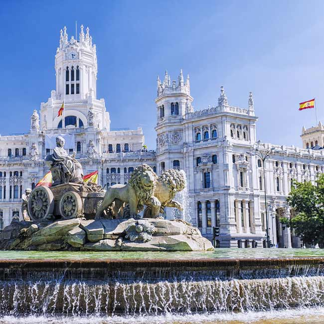 Cibeles Fountain – Madrid, Tours of top destinations in Spain, Travelive packages