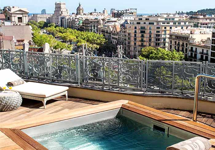 Penthouse – Hotel Majestic, Barcelona Honeymoon with Travelive, luxury travel agency