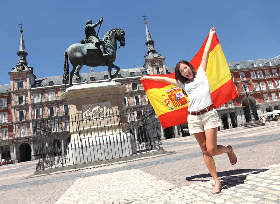Young Woman Exploring Madrid, Spain, Luxury Travel Spain Vacation Packages