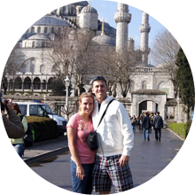Couple at Hagia Sofia – Turkey Classics Package, Luxury Travel to Turkey